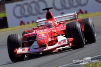 Schumacher on provisional pole for British GP