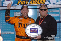 BUSCH: Johnny Benson earns pole at Rockingham