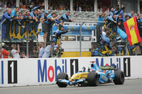 Unexpected victory for Alonso at German GP