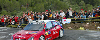 Loeb runs away with the lead in Catalunya
