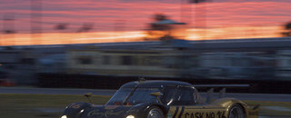Grand-Am Penske leads Porsche 1-2-3 in early morning at Daytona
