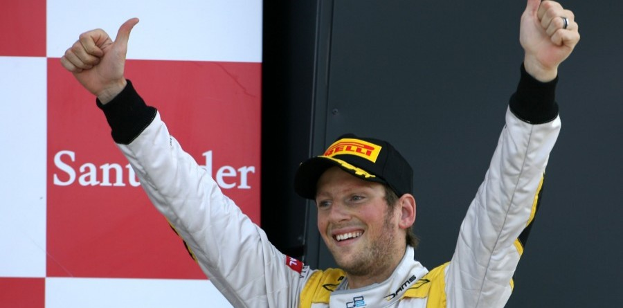 GP2 Points Leader Grosjean Takes Silverstone Race 2 Win