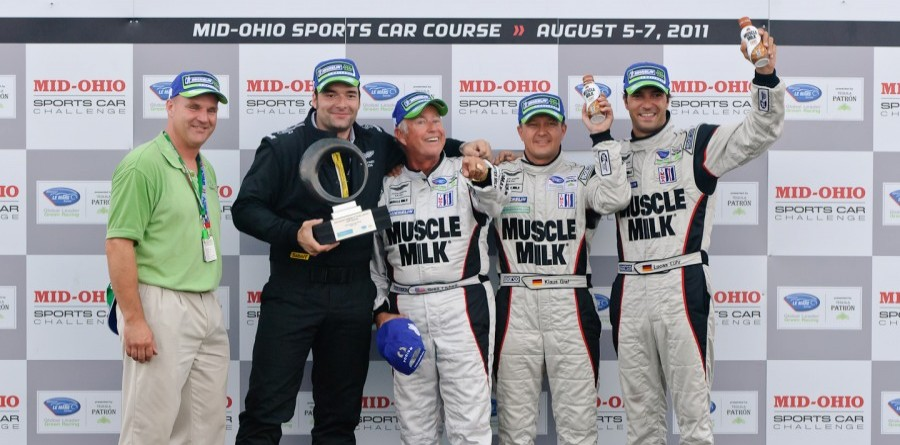 Muscle Milk AMR Celebrates ALMS Win At Mid-Ohio