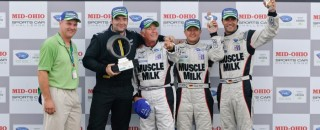 ALMS Muscle Milk AMR Celebrates ALMS Win At Mid-Ohio