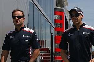 Maldonado happy to keep Barrichello as teammate