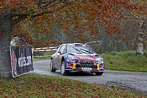 WRC Loeb holds advantage over Hirvonen after first day of Wales Rally GB