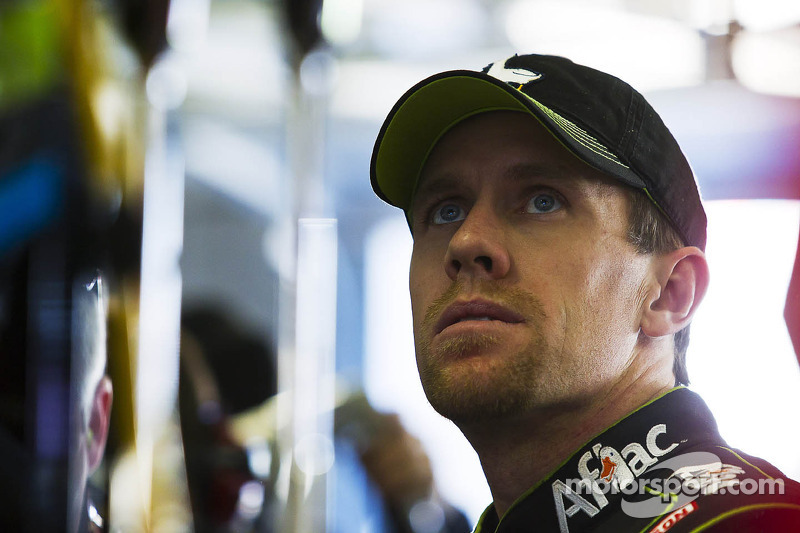 Carl Edwards, point leader, visits the media at Phoenix II