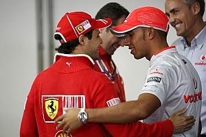 Formula 1 Hamilton hugs Massa as feud and bad season ends