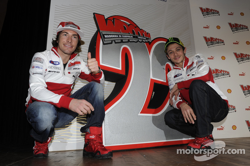 Ducati riders get into gear for the upcoming 2012 season