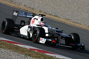 Formula 1 Kobayashi ends Barcelona test with fast time on day four