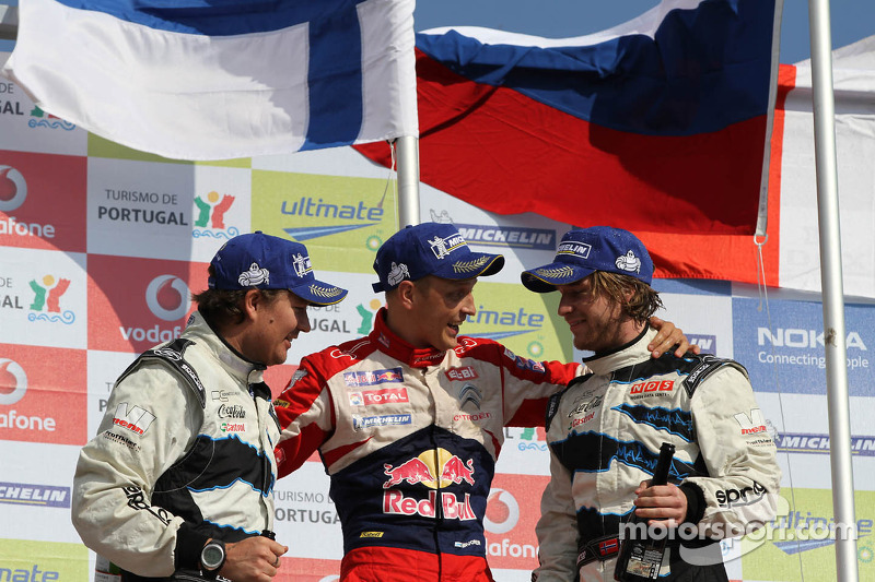 Ford Fiestas claim podium clean sweep in Rally de Portugal