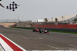 GP2 Rookie Dillmann sprints to maiden victory in Sakhir's final race