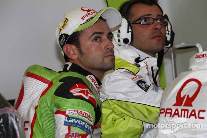 Pramac Racing's Barbera faced tricky conditions at Silverstone,