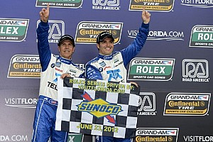 Grand-Am Race report Pruett and Rojas take first win in 2012 at Road America