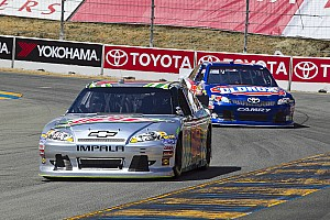 NASCAR Sprint Cup Race report Dale Earnhardt Jr. victimized at the end of Sonoma event