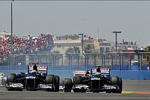 Williams team survived the European GP battle field