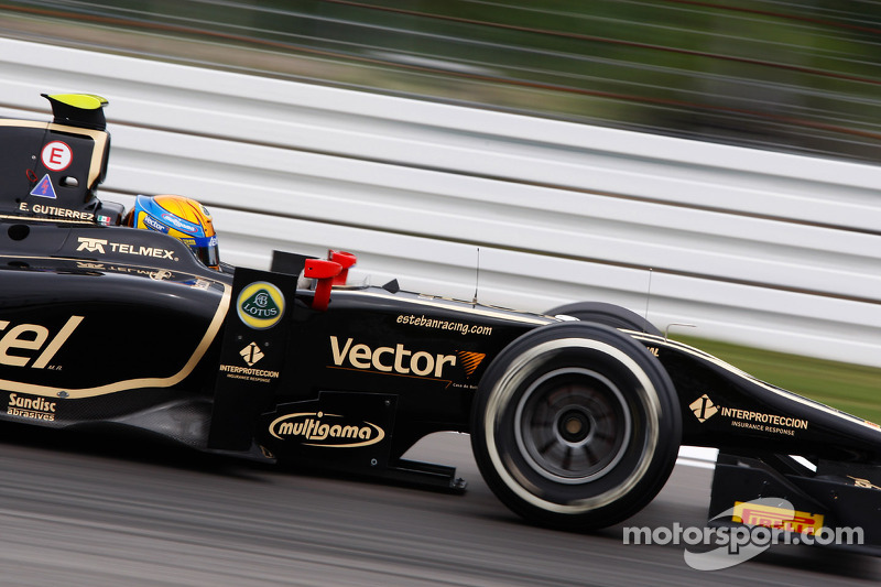 Esteban Gutierrez leads Lotus charge at Silverstone