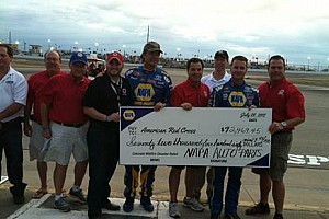NAPA and Michael Waltrip Racing Team up to raise more than $72,000 for Colorado widfire victims