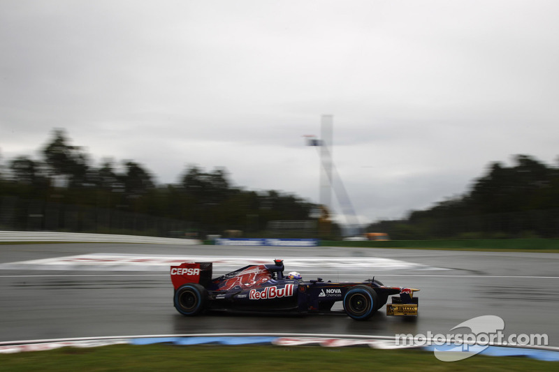 Wet Friday practice for Toro Rosso at Spa
