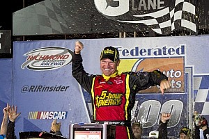 NASCAR Sprint Cup Race report Bowyer wins rain-delayed race at Richmond; Chase field set