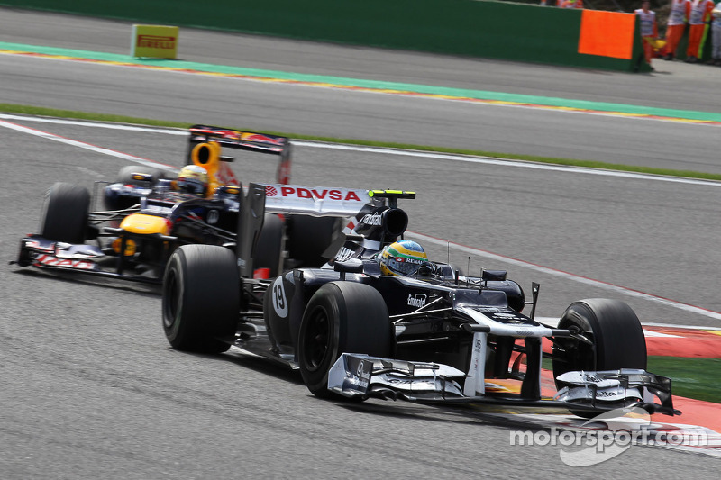 Maldonado in 11th just behind Senna at Monza