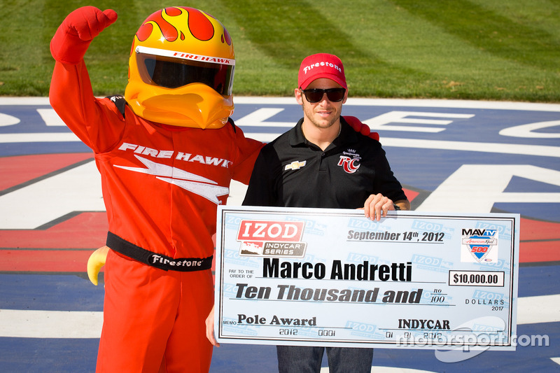 Andretti takes pole for 500 mile race at Auto Club Speedway in Fontana