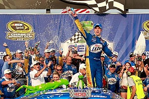 NASCAR Sprint Cup Race report Keselowski puts his Penske Dodge into Victory Lane at Chicagoland