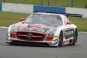 Blancpain Sprint Race report Basseng and Winkelhock take provisional title in controversial fashion at Donington