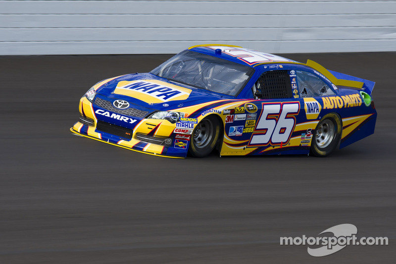 Truex Jr. top Toyota driver at Kansas, takes second place
