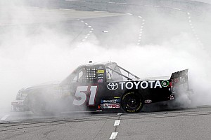 NASCAR Truck Race report Hamlin claims second career NWCST victory at Martinsville