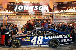 NASCAR Sprint Cup Race report Johnson goes from pole to victory lane in Texas 500