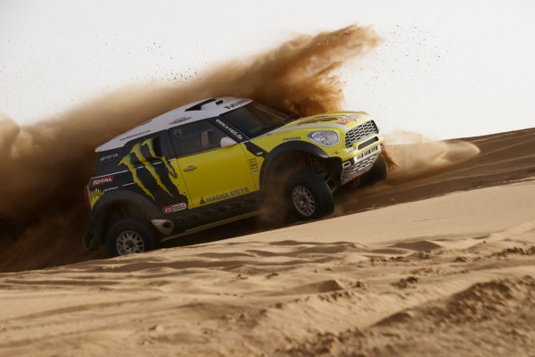 Car race at Dakar: a collision of worlds