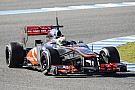 McLaren's Perez gets acclimated with the  MP4-28 at Jerez circuit
