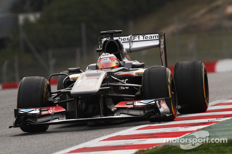 Hülkenberg and Sauber team pleased with day three's testing on Circuit de Catalunya
