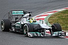Rosberg completes his Barcelona tests on the 3rd day for the Mercedes team