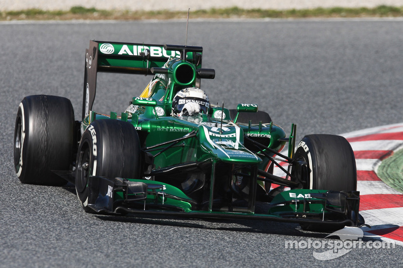 Caterham's Van der Garde is happy after his final day of testing in Barcelona
