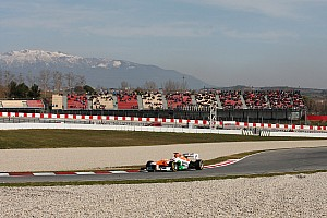 Force India wrapped up its winter testing in Barcelona with a race simulation