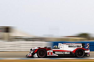 ALMS Testing report Graf flexes Muscle (Milk) in Tuesday's testing at Sebring