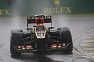 Despite rain, Lotus showed a good shape in qualifying for Australian GP