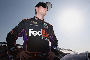 NASCAR Sprint Cup Qualifying report Hamlin takes third-straight front row start with Fontana pole