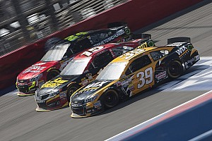 NASCAR Sprint Cup Race report Newman rebounds from pit penalty to finish 10th at Fontana