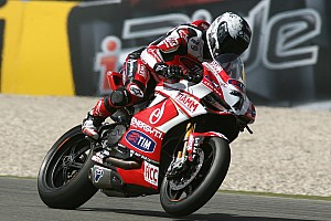 Ducati Alstare's Checa, Badovini and wildcard Canepa prepare for Donington