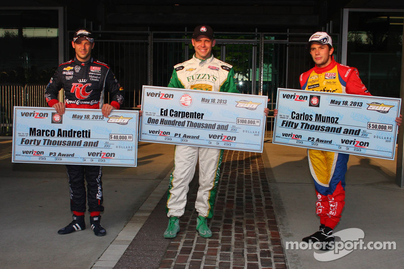 Ed Carpenter on top after Indy's longest Pole Day