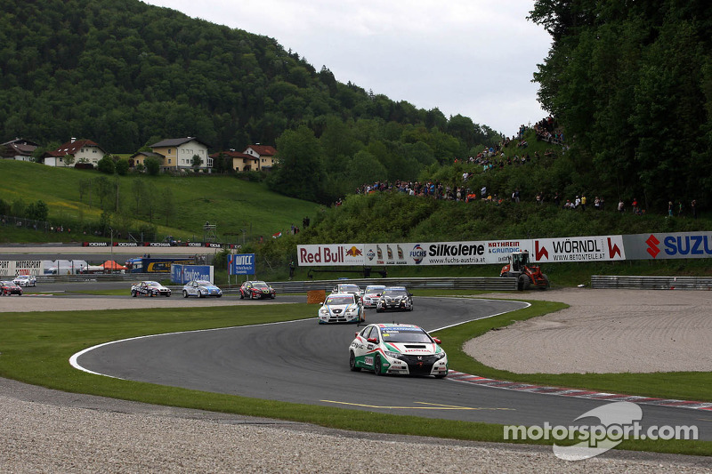Tiago Monteiro one step off the podium in Austria
