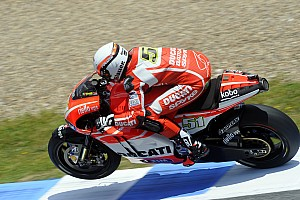 Hayden fourth, crash for Dovizioso on day one at Mugello