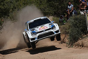 WRC Leg report Volkswagen in third and fifth place after day one in Greece
