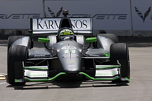 IndyCar Race report KV Racing Technology drivers finish 13th and 16th in race 1 of the dual of Detroit