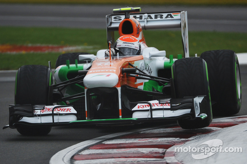 Sahara Force India's Sutil qualified in eighth for tomorrow's Canadian GP