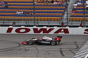 IndyCar Qualifying report Team Penske's Castroneves and Power qualify 1-2 at Iowa
