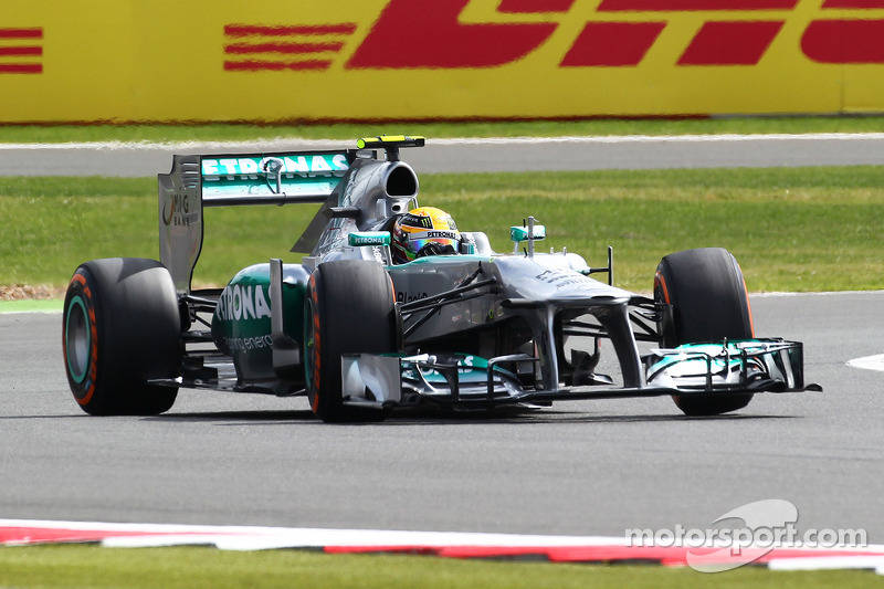 Third front-row lockout n the past four races for Mercedes at Silverstone